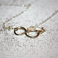 aeternum - sterling silver infinity necklace by lilla stjarna - silver - gifts under 50 - Valentine's Day - Infinity Symbol Necklace