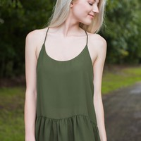 Perfectly Simple Olive Green Tank Top