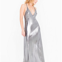Metallic Jersey Strappy Maxi Dress | American Apparel