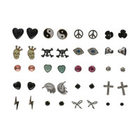 20 Pack Edgy Girl Stud Earrings