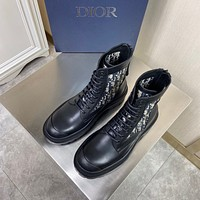 Christian Dior   Men Fashion Boots fashionable Casual leather Breathable Sneakers Running Shoes