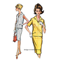 1960s MOD 2-PIECE DRESS Pattern Pullover Blouse & Skirt Sleeveless Short Sleeves McCalls 6814 Vintage Womens Sewing Patterns Size 12 Bust 32