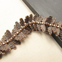 Copper Wings Bead Spacer Bead Supply Angel Fairy 1 Strand of Wings