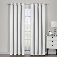 Ava Blackout Weave Curtain Panels With Tie Backs Pair (Set Of 2)