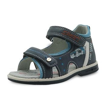 Boys Shoes Summer Kids Sandals Pu Leather Flat Children's Shoes for Toddler Boys Orthopedic Baby Sandals