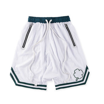 Lucky White Basketball Shorts w/ Riri Zippers