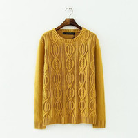 Long Sleeve Pullovers Knitted Sweater