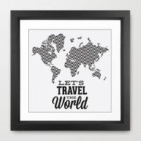 Travel Wall Art - Travel Wall Decor - Travel Art Print - World Map Art Print - Adventure Art - Map Wall Art - Map Wall Decor