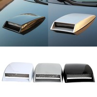Car Styling Air Flow Intake Scoop Side Vents Decorative Universal Turbo Bonnet Vent Cover Car Stickers Exterior Accessories