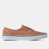 Vans Authentic Shoes - (brushed Twill) Leather Brown at Urban Industry