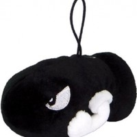 "Official Nintendo Mario Plush Series Stuffed Toy - 5"" Bullet Bill / Killer S (Japanese Import)"