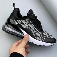 Nike Air Max 270 React x Dior half palm air cushion breathable cushioning running shoes