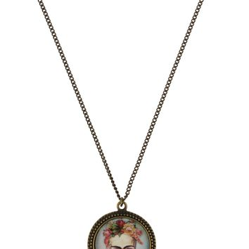 Coucou Heart Frida Skull Necklace
