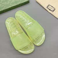 GUCCI Transparent crystal couple slippers with luminous