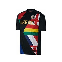 Nike Men's FC World Cup Flag Soccer Black Jersey Tee