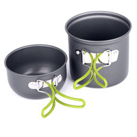 Taotown Camping Picnic Hiking Cook Cookware Cooking Pot Aluminum Bowl Set Outdoor activities Use
