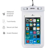 """Universal Waterproof Case, JOTO Cell Phone Dry Bag for Apple iPhone 6S 6,6S Plus, 5S 5, Samsung Galaxy S6, Note 5 4, HTC LG Sony Nokia Motorola up to 6.0"""" diagonal (White)"""