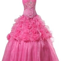 Sunvary Off Shoulder Tulle Princess Quinceanera Prom Dresses Bridesmaid