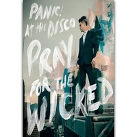 S848 Album Cover Pray For The Wicked Panic! at the Disco Rock Band Wall Art Painting Print On Silk Canvas Poster Home Decoration