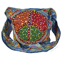 Peace Sequin Embroidered Shoulder Bag on Sale for $24.95 at HippieShop.com