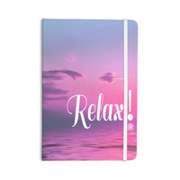 """Alison Coxon """"Relax"""" Pink Typography Everything Notebook"""