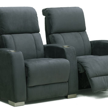2-Seat Fabric Reclining Home Theater Seating (Straight) Hifi by Palliser
