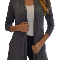 Women's Flyway Grey Cardigan