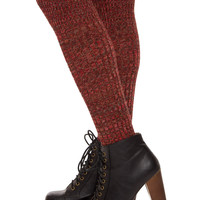 Farrah Over The Knee High Socks - Rust
