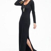Catalina Long Sleeve Scoop Slit Dress