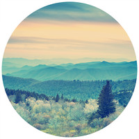 Into The Forest Circle Wall Decal