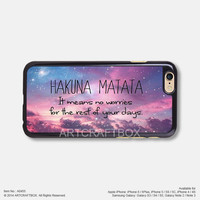 Hakuna Matata Clouds Disney iPhone Case Black Hard case 455