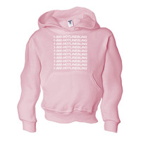 Hooded Sweatshirt 1 800 Hotline Bling Sweater Light Pink Hotline Bling Drake Hoodie Pull Over