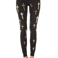 See You Monday Believer Legging in Gold