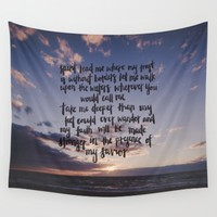 Where My Feet May Fail Wall Tapestry by Mercy 'n' Grace