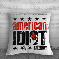 Greenday American Idiot Pillow, Pillow Case, Pillow Cover, 16 x 16 Inch One Side, 16 x 16 Inch Two Side, 18 x 18 Inch One Side, 18 x 18 Inch Two Side, 20 x 20 Inch One Side, 20 x 20 Inch Two Side