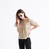 Plaid Catchline Tee : shopmadewell AllProducts | Madewell