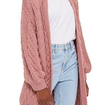 Topshop Long Open Front Cardi | Nordstrom