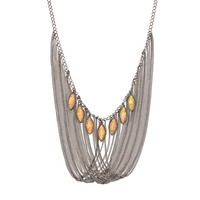 Simply Vera Vera Wang Marquise Long Necklace (Orange)