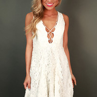 Love At Last Fit & Flare Dress in White