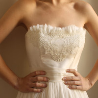 Beverly Silk/Lace Wedding Gown