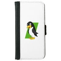 Cute penguin cartoon iPhone 6 wallet case