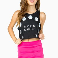 Moon Child Cropped Tee