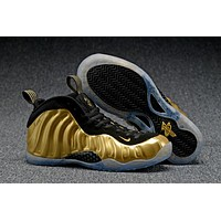 Air Foamposite One Gold/Black Sneaker Shoes 40--47