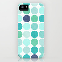 the blue dots iPhone & iPod Case by her art