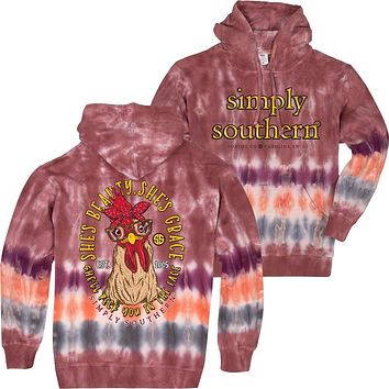 Simply Southern She's Grace Tiedye Pullover Hoodie T-Shirt