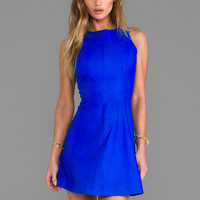 Muubaa x REVOLVE Agden Leather Dress in Atomic Blue