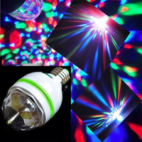 High quality E27 3W multicolor auto Rotating RGB LED Bulb Stage Light Xmas Party Lamp Disco = 1946614724