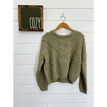Keep Me Company Sweater - Pistachio