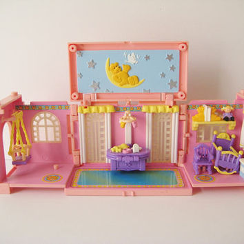 Polly Pocket Dream Builders Mansion Baby Nursery Bluebird Pop Miniature Toy NO Figures Included Clean USED