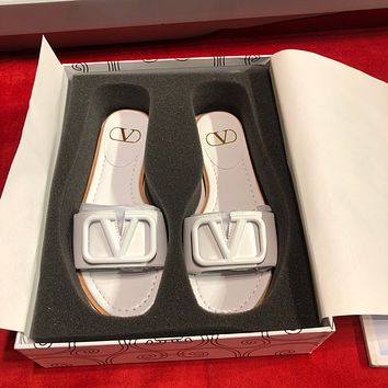 VALENTINO  Women Casual Shoes Boots fashionable casual leather Women Heels Sandal Shoes
